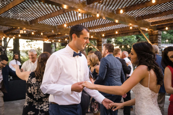Dance party at California Wine Country wedding at Trentadue Winery