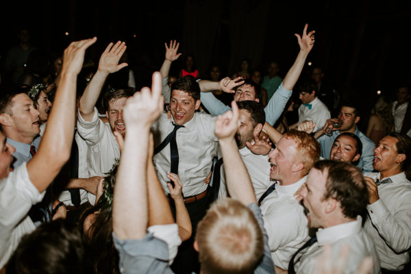 Groomsmen packing the dance floor