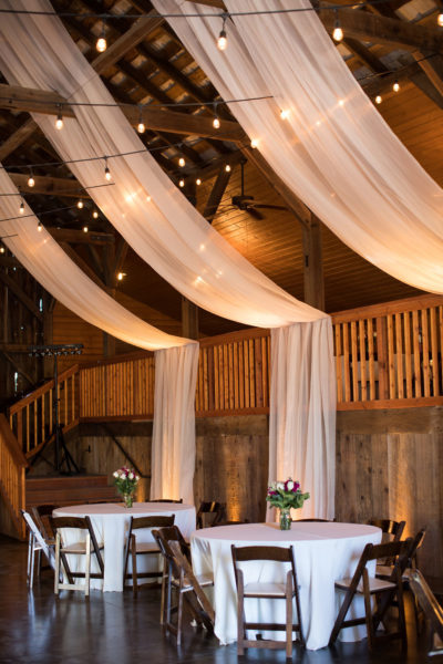 Uplighting for barn wedding