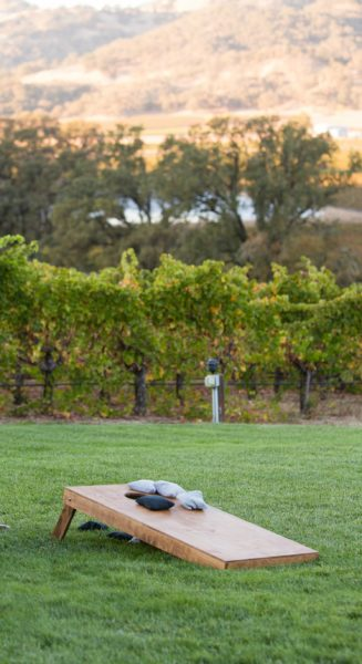 Wine Country Wedding Lawn Games