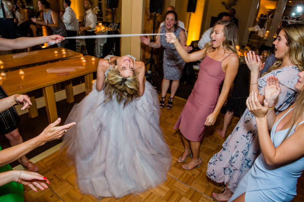 Bride out on the dance floor!