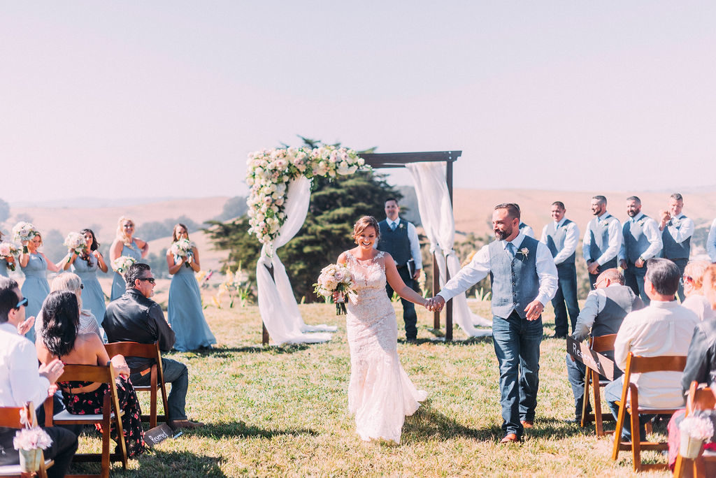 Ranch wedding ceremony at Spring Hill Estate
