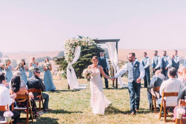 Ranch wedding ceremony at Spring Hill Estate