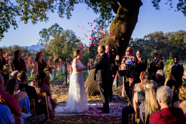 Wedding Ceremony at Russian River Vineyards