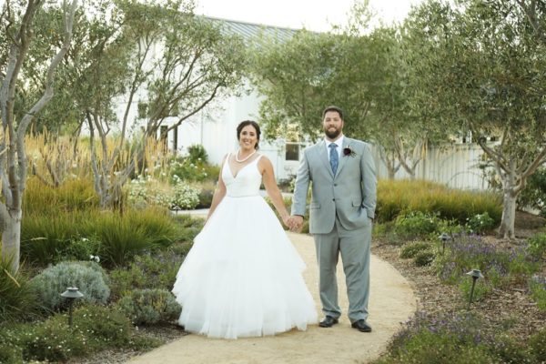 Bride and groom at their Sonoma Valley wedding at The Barn at Tyge William Cellars