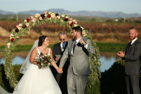 Ceremony at The Barn at Tyge William Cellars