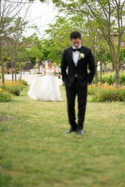 First Look at Wine Country Wedding