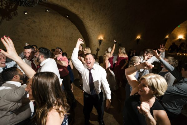 Epic wine country dance party in the Estate Cave at The Meritage